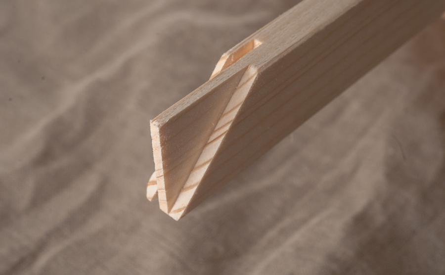 napinacia lišta z masivu na ktoru sa napina platno - blind ram